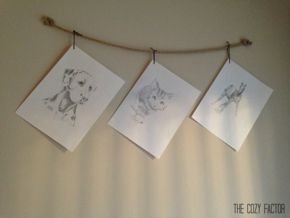 Hang Photos From Rope - The Cozy Factor